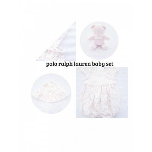 Set Polo Ralph Lauren pagliaccetto: pony ricamato a sinistra sul torace, scollo arrotondato, chiusura con bottoni al centro della schiena