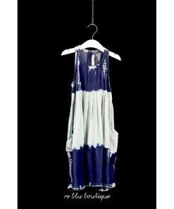 Vestito StellaMcCartney tye dye che può variare, spalline larghe, chiusura sul retro con zip, due tasche laterali trasversali