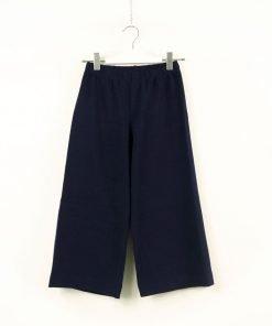 Pantalone Il Gufo modello capri nella variante blu scuro, dotato di elastico in vita per garantire maggiore comfort. Senza tasche