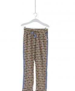 Pantalone in fantasia Scotch R'Belle, tessuto leggero in modal, stampa all-over, strisce laterali, vita elasticizzata con coulisse. Tasche laterali, orli con risvolto