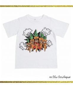 T-shirt StellaMcCartney girocollo con stampa frontale su tutta la superficie che ritrae un disegno esclusivo del brand. Collo, polsi e fondo a costine.