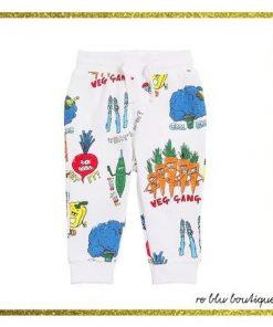 Pantalone jogging in felpa StellaMcCartney, Vita elasticizzata con coulisse, polsini elasticizzati sul fondo.La stampa su tutta la superficie può variare, due tasche laterali, una tasca sul retro