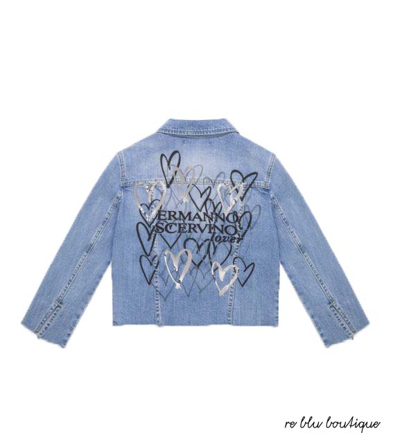 97687d85e9 Giacca Jeans in Denim con Stampa Ermanno Scervino