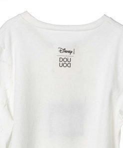 T-shirt Doudou a maniche lunghe con stampa sul pannello di frontale di un fumetto tratto dagli archivi di Walt Disney