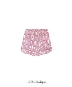 Shorts rosa di Stella McCartney con stampa Stella all-over.